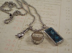 Alice Down the Rabbit Hole charm necklace (PisforPaper) Tags: blue rabbit whiterabbit downtherabbithole aliceinwonderlandalicewonderlandvintagegamepiecessoldersolderedalteredartcharmpendantnecklacejewelrycharmnecklacesilverdominodominoes
