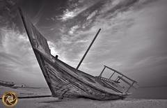 OLD SHIP (RASHID ALKUBAISI) Tags: bw nikon nikkor rashid d800 d4 راشد بوخليفة قطر الدوحة دوحة الوكره d3x alkubaisi d3s stunningskies الكبيسي wwwrashidalkubaisicom
