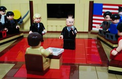 Town Hall Debate (Julius No) Tags: town hall kent lego president super superman clark hero batman gotham vote lex villains debate luthor arkham