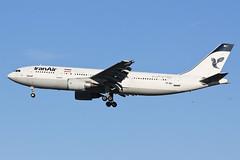 EP-IBC Iran Air A306 at Heathrow EGLL (AeroPics) Tags: tehran iranair lhr a300 nicelight egll airbusa300 londonheathrowairport runway27l epibc