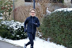 Tina out running (os♥to) Tags: winter snow denmark europa europe exercise sony zealand dslr workout scandinavia danmark a300 sjælland デンマーク osto december2012 alpha300 os♥to