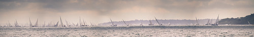 Round the Island Race Panorama.