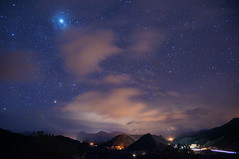 Low clouds and stars