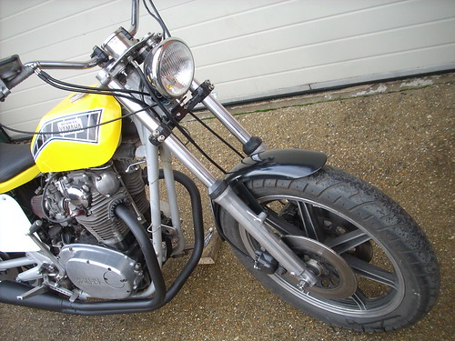 uk forsale custombike flattracker redmax yamahaxs650 streetracker championbodywork 740bigborekit