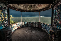 Graffiti Storm (Scott Baldock Photography) Tags: light sea england storm building green london art beach thames architecture docks river landscape graffiti bay dock nikon mod exposure horizon ministry great estuary east thorpe dome gb leigh riverthames essex hadleigh leighonsea southend shoeburyness defence lightroom kursaal southendonsea eastbeach chalkwall shoebury wakering prittlewell d5000