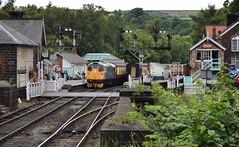 Class 26 at Grosmont, North Yorkshire Moors Railway (Russardo) Tags: yorkshire england rail railway nymr north moors grosmont signalbox class 26 signal gantry semaphore
