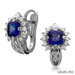 Earrings Tanzanite (Azazel.PRO) Tags: earrings moscow        fashion   jewelry flowers   gemstone exclusive handmade    almaz  diamond   tanzanite love
