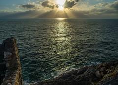 Beyond the Reef (dmj.dietrich) Tags: bayofpoets gulfofpoets italia italy laspezia liguria portovenere sea seashore seaside ruins sunset clouds mediterranean mediterraneo