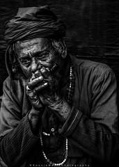 ||Smoking Monk|| (SouvikMetiaPhotography) Tags: people portrait monochrome blackandwhite monk smoking face streetphotography streetphoto kolkata nikon flickr india documentary contrast dailylife turban asia travel