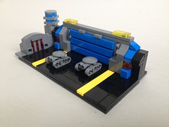 Steelbugs at rest (TenorPenny) Tags: lego microscale microspace hangar dock