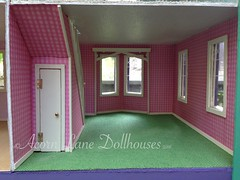 IMG_0406 (AcornLaneDollhouses) Tags: westville greenleaf dollhouse handcrafted finished interior wallpaper carpeted hinged door