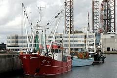 Hafenregion; Esbjerg, Dnemark (126) (Chironius) Tags: esberg dnemark esbjerg denmark danmark nordsee meer see northsea merdunord mardelnorte maredelnord maritim stahl stahlfachwerk fachwerkskonstruktion