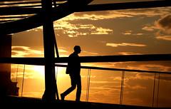 sunset (Wackelaugen) Tags: sunset person man silhouette reichstag reichtagskuppel germany government bundestag canon eos photo photography wackelaugen googlies