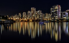 Canada goes for the gold (Images by Christie  Happy Clicks for 2016!) Tags: canada canadawinsgold bc vancouver falsecreek nightphotography photography seascape gold reflections reflection