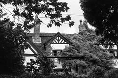 Cottage, Dunham Massey (MCorrigan1983) Tags: jch400 streetpan 2016 bw dunhammassey jchstreepan400 nikkor50mmf14ais nikonfe2