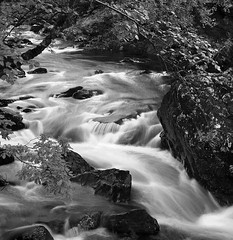 River Falloch B&W (CactusD) Tags: nikon d800e 50mmf14g hitechfilters leefilters 12irnd 105mmcpl riverfalloch scotland