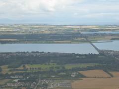 The railway line northwards (seikinsou) Tags: ireland westmeath summer aerlingus flight windowseat dublin airport coastliune coast railways track line