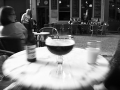 Thirsty ! (Ren-s) Tags: blackandwhite noiretblanc city ville town citycenter centreville belgium belgique antwerp anvers europe beer drink boisson bire bar speed vitesse table