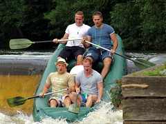 23.8.16 Vyssi Brod Weir 223 (donald judge) Tags: czech republic south bohemia vyssi brod weir boats rafts canoes river vltava