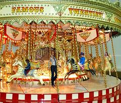 Mii  -  Fun on the Carousel ............... (ClaraDon) Tags: carousel merrygoround ride roundabout photoshop