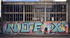 NOFX-Graffiti in Basel (Andreas Mezger - Art Photography) Tags: rot nofx graffiti basel architecture old building colourful nikon long exposure 20mm