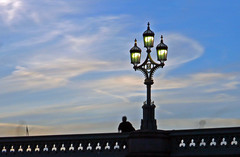Ghosting on Westminster Bridge (1selecta) Tags: westminster westminsterbridge bridge people ghost ghostly ghosts persons design lamp lamppost post light lights lighting streetlight lamps blue white green black shadow cloud cloudcover clouding sky bright