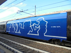 la linea sdk (en-ri) Tags: opak sdk crew lalinea train torino bianco blu wholecar endtoend toptobottom graffiti writing