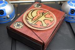 Wooden Starwars Book (Michael Kappel) Tags: woodenbook woodbook starwarswoodenbook starwars handmadewoodenbook handmadewoodbook lasercut laserengraved