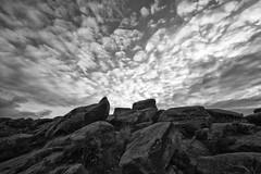 Higger Tor (l4ts) Tags: landscape derbyshire peakdistrict darkpeak higgertor gritstone gritstonetor gritstonetors blackwhite cloudscape sunrise