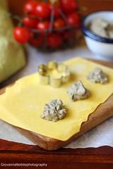 Ravioli con ricotta di capra e melanzane 2 (Giovanna-la cuoca eclettica) Tags: ravioli melanzane uova farina ricotta primipiattiabasediverdure
