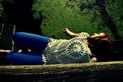 Requiem for Annie (anvelvet) Tags: girl nature river croatia trnava meimurje boho sleep conceptual green blackbridge crnimost most hand