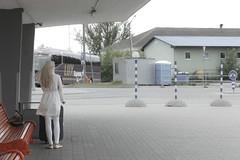 Slavata (Zioluc) Tags: luciobeltrami street tallinn bus station whit girl blonde urban deadpan