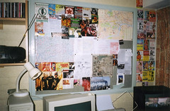 My room (Gary Kinsman) Tags: hampsteadstudentcampus hampstead childshill nw3 kidderporeavenue london 2001 film kingscollegelondon kcl hallsofresidence studentcampus students university fun youth young flash