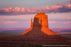 Inverse Mitten Shadow (David Swindler (ActionPhotoTours.com)) Tags: utah shadow inverse arizona inverseshadow sunset monumentvalley mittenshadow