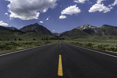 Road to Convict Lake (scun11) Tags: landscape mountains road grass easternsierras sierras clouds sky afternoon california ca westcoast outdoors outdoor shadows summer nature mountain travel explore