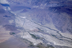 Aerial view of Tinemaha Reservoir and Mazourka Peak, Owens Valley, Inyo County, California (cocoi_m) Tags: aerialphotograph aerial nature geology geomorphology mojavedesert tinemahareservoir mazourkapeak owensvalley inyocounty california highway395 us395 losangelesaqueduct owensvalleyfault owensriver inyomountains