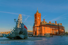 Merchant Seafarers Memorial & Pierhead Building (parry101) Tags: cardiff bay cymru welsh caerdydd south wales nikon d3200 nikond3200 merchant seafarers memorial pierhead building morning sky