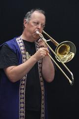 London Mela (2016) 23 - Bollywood Brass Band (KM's Live Music shots) Tags: worldmusic greatbritain bollywood bollywoodbrassband trombone londonmela thedrumatwembley