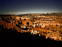 Bryce Canyon Nightfall (alsimages1 - Thank you for 860.000 PAGE VIEWS) Tags: canyon utah colours hoodoos rocks plateau alpine spruce fir trees hiking camping breathtaking views national park salt lake city las vegas nevada thundershowers