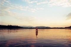 . (Careless Edition) Tags: photography film mountain lake kirchsee germany bayern bavaria sunset girl
