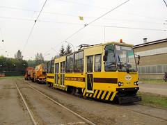 """Konstal 105Na, #143R """"Szerszeń"""", Tramwaje Śląskie (transport131) Tags: tram tramwaj tś kzk gop będzin konstal 105na"""