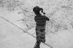 Sweeping-Stray-Beans,-Tanzania-2015