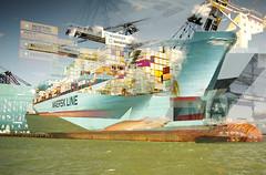 Ubiquitous_xx (Jonny Bell) Tags: jonnybell icm multipleexposures blur layers shipping globilisation climate change suffolk carbon emissions felixstowe