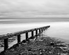 Shanklin (kylemay86) Tags: shanklin iow sea beach uk long exposure bw