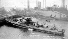 Imperial Oil's Imperoyal Refinery, Dartmouth, American submarine chaser #247 1918 (vboudreau2016) Tags: dartmouth imperial oil refinery waterfront
