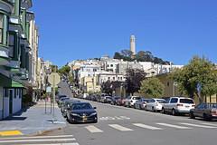 Coit Tower and Telegraph Hill, San Francisco, California (trphotoguy) Tags: sanfrancisco sfo california nikond610 ca coittower telegraphhill