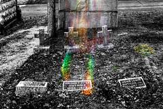 (jroadie1) Tags: cemetery lensflare selectivecolor mountmoracemetery