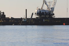 Crane and dredging barge.8 (Walt Barnes) Tags: canon eos ship crane vessel richmond calif barge sanpablobay 60d millerknox canon60d canoneos60d clamshelldredge ebparksok wdbones99