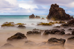 Smoke on the water (theqspeaks) Tags: ocean longexposure sky beach water rock clouds canon landscape hawaii daylight sand october rocks waves maui filter hana nd cheers chuck translucent hi transparent tamron volcanic f28 2012 haida hamoa cheers2 1750mm 10stop 60d nd30 chuck2 chuck3 chuck4 thepinnaclehof kanchenjungachallengewinner tamronspaf1750mmf28xrdiiivcldasphericalif cheers3 cheers4 cheers6 cheers7 cheers8 cheers9 cheers10 cheeredonbythepigsty cheers11 tphofweek176