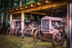 Tractors (Paul Rioux) Tags: tractor canada abandoned rural vintage rust antique britishcolumbia farm equipment vancouverisland machinery historical cowichanvalley northcowichan prioux
